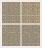 Set seamless patterns of Muslim tracery. Vector pattern for desi Stock Photos