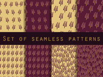 Set of seamless patterns. Nature. The pattern for wallpaper, tiles, fabrics and designs. Stock Images