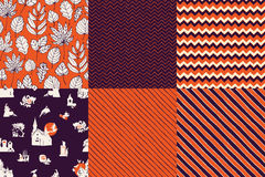 Set of seamless patterns Royalty Free Stock Images