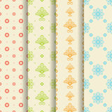 Set of 4 seamless patterns Stock Images