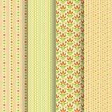 Set of 4 seamless patterns Stock Photo