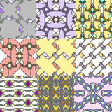 Set of seamless patterns with ornaments Stock Photography