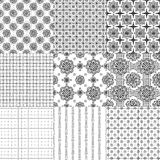 A set of seamless patterns Stock Photos