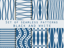 Set seamless patterns. The pattern of the lines. The pattern for wallpaper, tiles, fabrics, backgrounds. Vector illustration Stock Photo