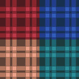 Set of seamless patterns with plaid. EPS10 Royalty Free Stock Images