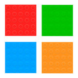 Set Of Seamless Patterns. Plastic Constructor Blocks Royalty Free Stock Images