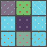 Set of seamless patterns in point with  polka dots Royalty Free Stock Images