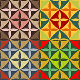 Set of seamless patterns with pointed ovals Stock Images