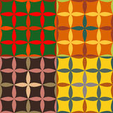 Set of seamless patterns with pointed ovals Royalty Free Stock Images