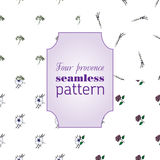 Set seamless patterns with provence flowers. Set four seamless pattern with spring provence flowers - lavender, hydrangea, anemons. Floral design for Valentine Royalty Free Stock Photos