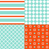 Set of seamless patterns Stock Image