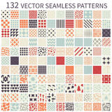 Set of seamless patterns. Stock Photos
