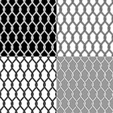 Set of seamless patterns with ropes Stock Image