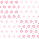 Set of seamless patterns with roses. Backgrounds with isolated vector objects. Set of seamless patterns with roses. Backgrounds with isolated vector objects on Royalty Free Stock Photos