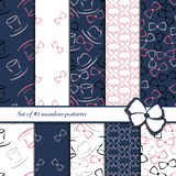 Set of 10 seamless patterns Stock Photos