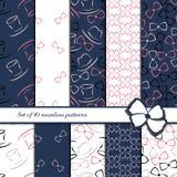 Set of 10 seamless patterns Stock Photos