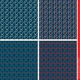 Set of seamless patterns. Royalty Free Stock Photos