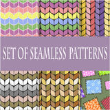 Set of seamless patterns of the six samples,. Vector graphics Stock Photos
