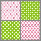 Set of seamless patterns Stock Photos
