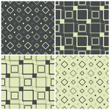 Seamless patterns with squares, vector illustration Stock Images