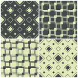 Seamless patterns with squares, vector illustration Royalty Free Stock Photo