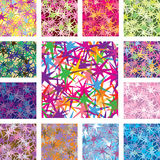 A set of seamless patterns. Star Royalty Free Stock Photos