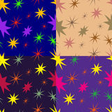 Set of seamless patterns from stars Stock Photos