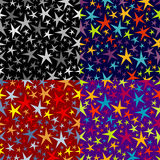 Set of seamless patterns of stars Royalty Free Stock Photos
