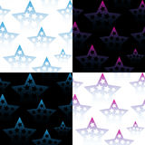 Set of seamless patterns with stars. Vector. Illustration Royalty Free Stock Image