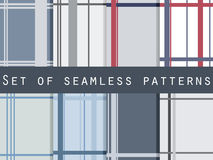 Set of seamless patterns with stripes. Retro patterns. Royalty Free Stock Images