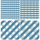 Set of seamless patterns of strips and squares. Vector illustration Stock Image