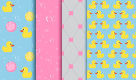 Set of seamless patterns on the subject of bathing , shower Royalty Free Stock Images