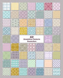 Set of 60 seamless patterns swatches Royalty Free Stock Images