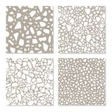 Set with seamless patterns in terrazzo style. Different textures of stone flooring in vector.  royalty free illustration