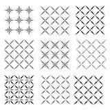 Set of seamless  patterns texture monochrome Royalty Free Stock Image