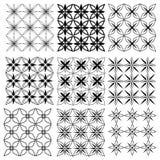 Set of seamless  patterns texture monochrome Stock Image