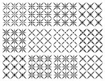 Set of seamless  patterns texture monochrome Royalty Free Stock Photos
