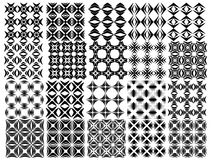 Set of seamless  patterns texture monochrome Royalty Free Stock Photography