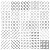 Set of seamless  patterns texture monochrome Stock Images