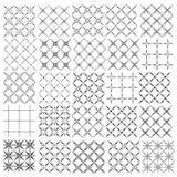 Set of seamless  patterns texture monochrome Stock Photography