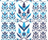 Set of  seamless patterns in traditional Turkish s Royalty Free Stock Images