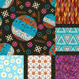 Set of seamless patterns tribal Stock Image