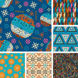 Set of seamless patterns tribal Royalty Free Stock Photography