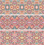 Set of seamless patterns in turkish ebry style Stock Photos