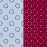 Set of seamless patterns with two circular floral print Stock Image