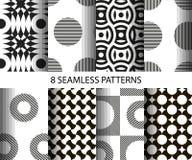 Set of seamless patterns. Stock Photography
