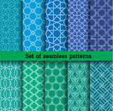Set of seamless patterns.Used for wallpaper, print, pattern, fabric,. Repetitive work, tile work, advertising, web design Stock Photo