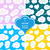 Set of seamless patterns for Valentine's Day Royalty Free Stock Photo