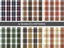 6 Set of seamless patterns fabric vector illustration