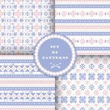 Set of seamless patterns . Royalty Free Stock Images